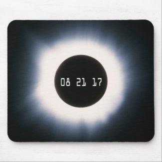 Tapis De Souris Août 2017 éclipse solaire totale en noir et blanc