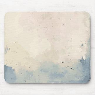 Tapis De Souris Aquarelle bleue/beige artistique