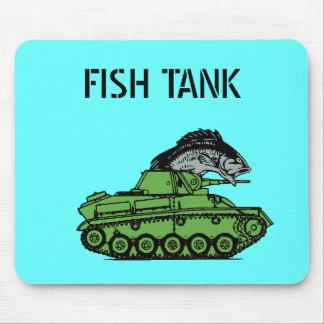 Tapis De Souris Aquarium - poisson conduisant un réservoir d'armée