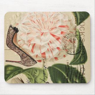 Tapis De Souris art botanique français de chaussures girly