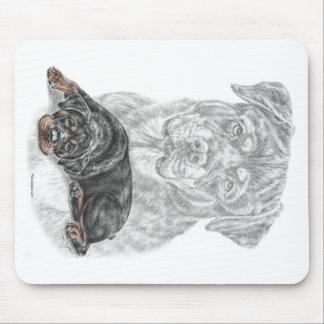 Tapis De Souris Art de chien de rottweiler