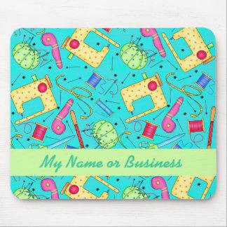 Tapis De Souris Art de couture personnalisé par turquoise Mousepad