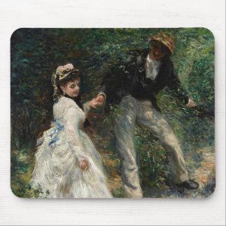 Tapis De Souris Art de marche de peinture de couples de Renoir de