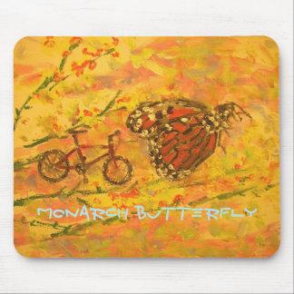 Tapis De Souris art de papillon et de bicyclette de monarque
