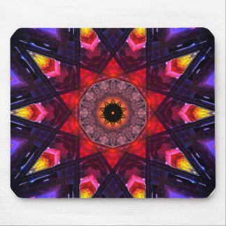 Tapis De Souris Art en forme d'étoile de mandala