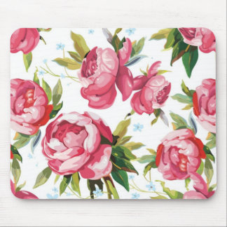 Tapis De Souris Art floral rose Girly
