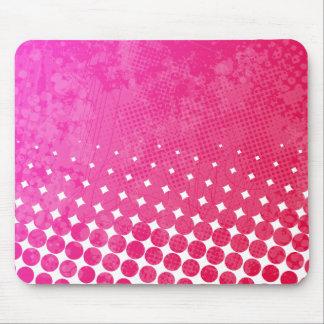 Tapis De Souris Art grunge Mousepad de rage rose