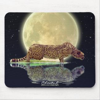 Tapis De Souris Art Mousepad de faune de grand chat de guépard et