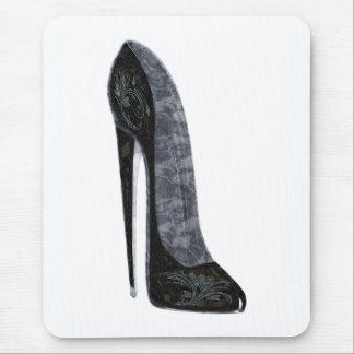 Tapis De Souris Art stylet élégant noir de chaussure de talon haut