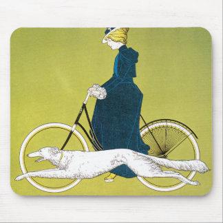 Tapis De Souris Art vintage Nouveau, Victoria Fahrrad Werke, Rehm