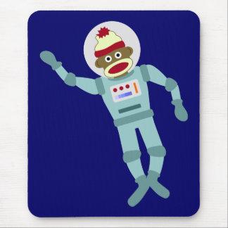 Tapis De Souris Astronaute de singe de chaussette