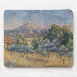 Tapis De Souris Auguste Renoir - la montagne de Sainte-Victoire