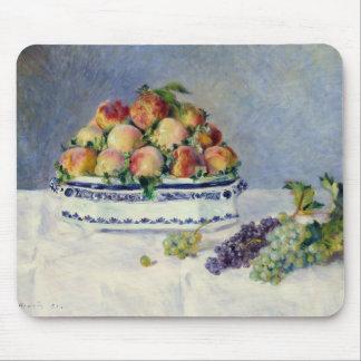 Tapis De Souris Auguste Renoir - la vie toujours avec des pêches