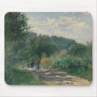 Tapis De Souris Auguste Renoir - une route dans Louveciennes