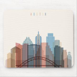 Tapis De Souris Austin, horizon de ville du Texas |