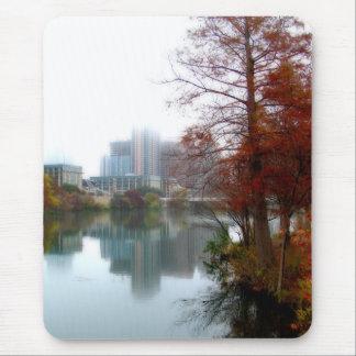 Tapis De Souris Automne du centre 3 d'Austin le Texas de lac