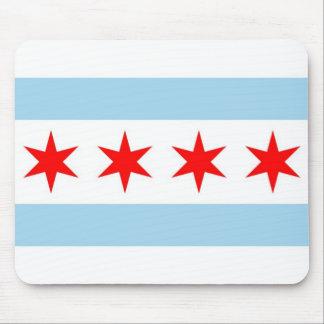 Tapis de souris avec le drapeau de Chicago -