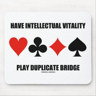 Tapis De Souris Ayez le pont intellectuel en double de jeu de