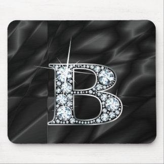 """Tapis De Souris B """"diamant Bling"""" sur Mousepad noir"""