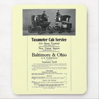 Tapis De Souris B+Service 1908 de cabine de Taxameter de chemin de