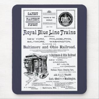 Tapis De Souris B+Trains royaux 1910 d'O Blue Line