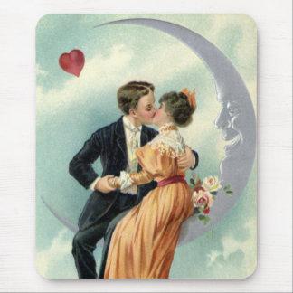 Tapis De Souris Baiser victorien vintage de Saint-Valentin sur la