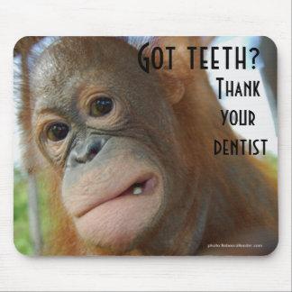 Tapis De Souris Balayez votre humour de dentiste de dents