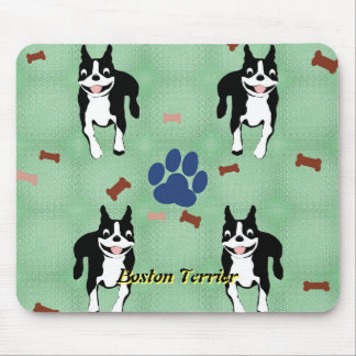 Tapis De Souris Bande dessinée de Boston Terrier