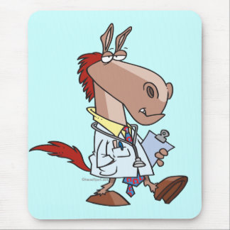 Tapis De Souris bande dessinée drôle de docteur de Doc. de cheval