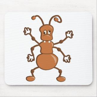 Tapis De Souris Bande dessinée drôle mignonne de fourmi