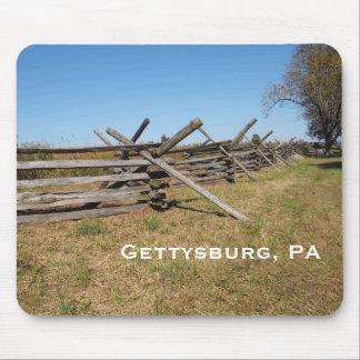 Tapis De Souris barrière en bois dans la PA de Gettysburg