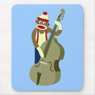 Tapis De Souris Bassiste droit de singe de chaussette
