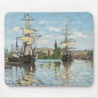 Tapis De Souris Bateaux de Claude Monet   montant sur la Seine à
