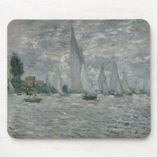Tapis De Souris Bateaux de Claude Monet  , ou régate à Argenteuil
