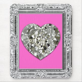 Tapis De Souris Beau coeur des diamants Mousepad