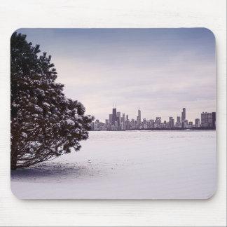 Tapis De Souris bel hiver Chicago - mousepads
