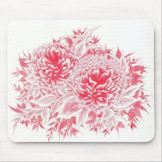 Tapis De Souris Belle pivoine rouge Mousepad artistique