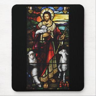 Tapis De Souris Berger de Jésus avec ses moutons