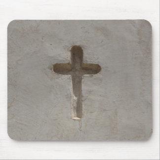 Tapis De Souris Bible croisée chrétienne primitive de favori de
