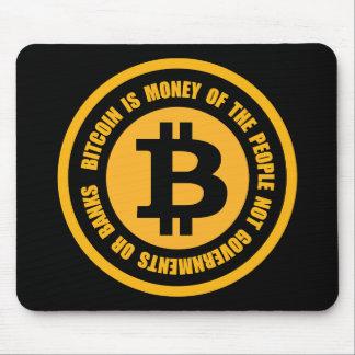 Tapis De Souris Bitcoin est argent des gouvernements de personnes