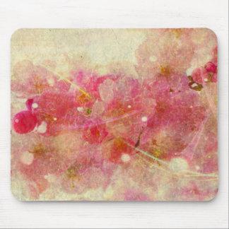 Tapis De Souris blanc roman vintage de résumé- de fleurs de
