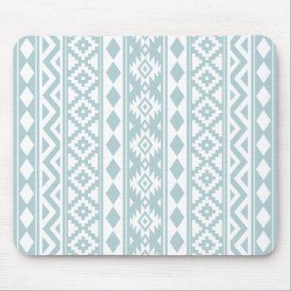 Tapis De Souris Bleu aztèque et blanc d'oeufs de canard de