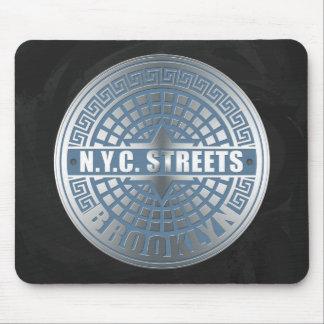 Tapis De Souris Bleu de Brooklyn de couverture de trou d'homme