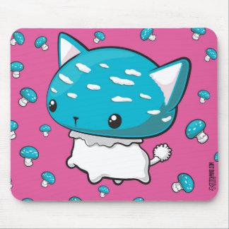 Tapis de souris bleu de champignon de Kitty de