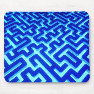 Tapis De Souris Bleu de labyrinthe