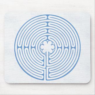 Tapis De Souris Bleu de labyrinthe de Chartres