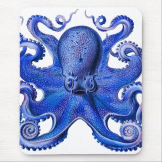 Tapis De Souris Bleu de poulpe de Haeckel