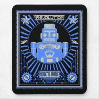 Tapis De Souris Bleu de révolution de robot