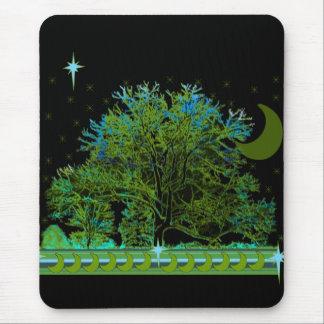 Tapis De Souris Bleus d'arbre