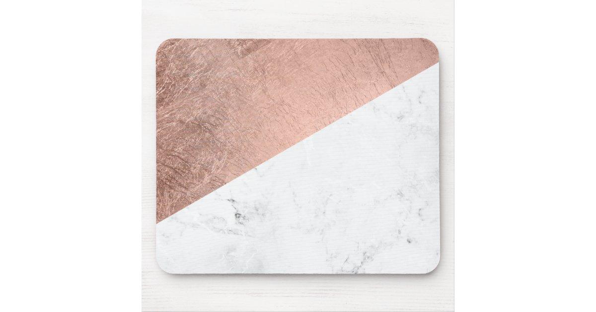 tapis de souris bloc de marbre blanc de couleur d 39 or rose moderne. Black Bedroom Furniture Sets. Home Design Ideas